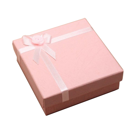 Small Pink Satin Ribbon Gift Box