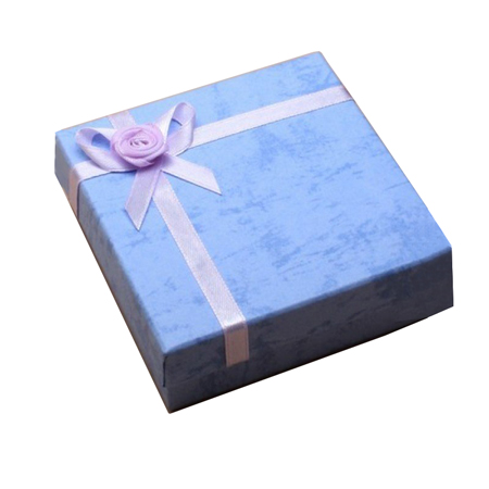 Small Lilac Satin Ribbon Gift Box