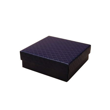 Small Navy Blue Quilted Style Gift Box