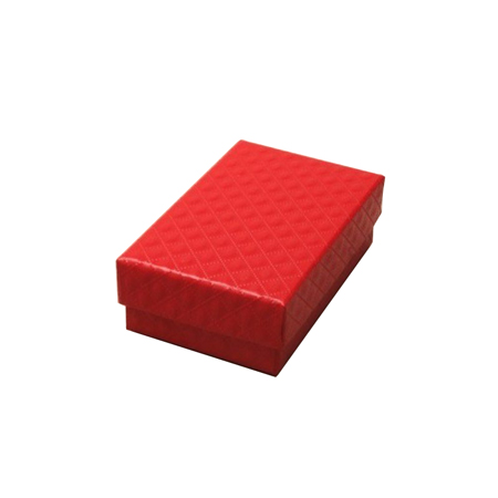 Small Red Quilted Style Gift Box