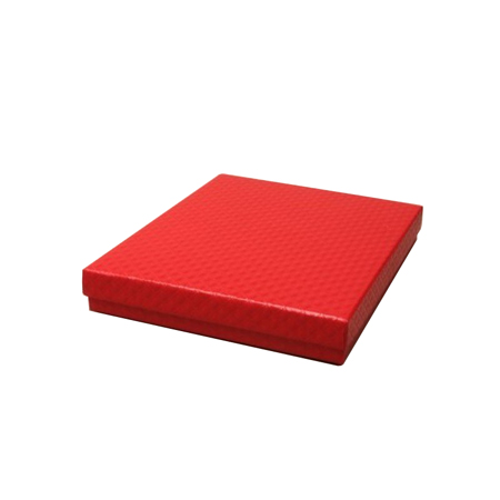 Large Red Quilted Style Gift Box