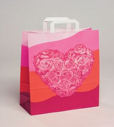 Large Heart Kraft Paper Bag