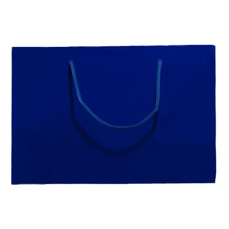 Large Royal Blue Matt Laminated Paper Bags