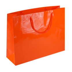 Large Orange Paper Gift Bag