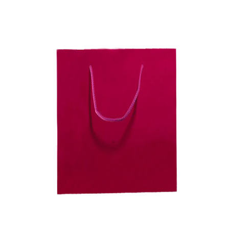 Medium Dark Pink Matt Laminated Paper Bags