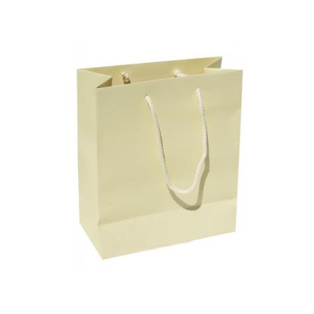 2320 - Small Plus Buttermilk Matt Laminated Paper Bags mobile