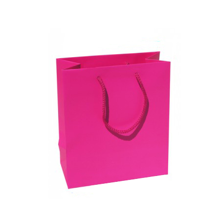 Small Plus Fuchsia Paper Bags