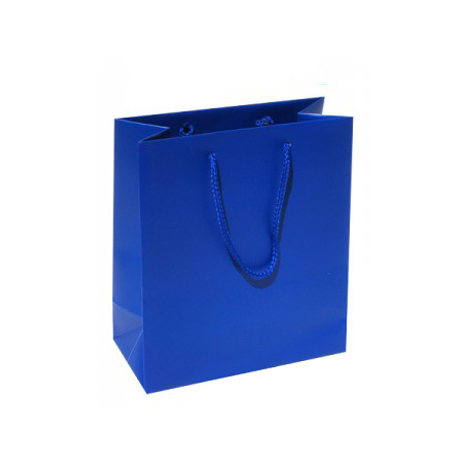 Small Plus Royal Blue Paper Bags
