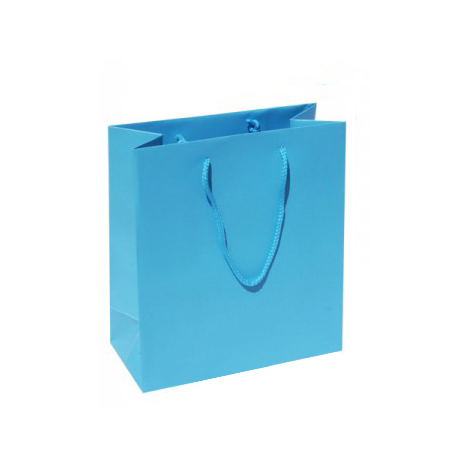 Small Plus-Sky Blue-Paper Bags
