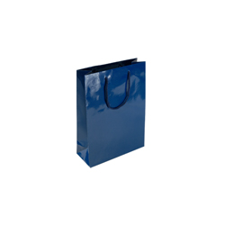 Extra Small Navy Blue Paper Gift Bag