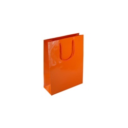 Extra Small Orange Paper Gift Bag