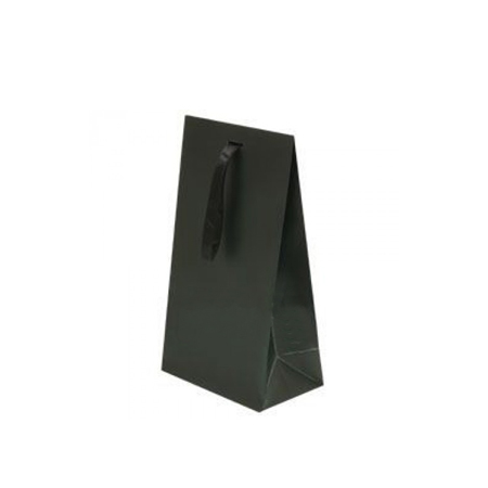 Small Black Matt Laminated Ribbon Bags