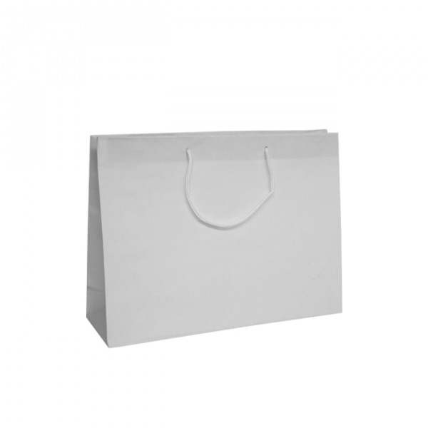 Medium White Recycled Paper Carrier Bags