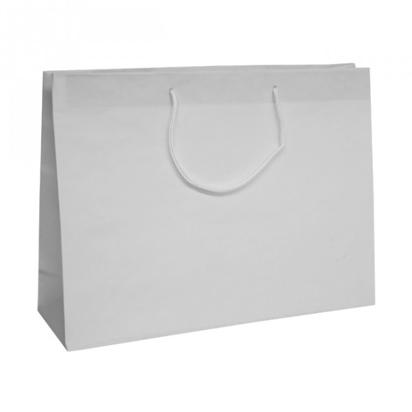 Large White Recycled Paper Carrier Bags
