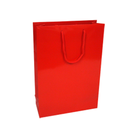 Medium Red Gloss Laminated Paper Bag