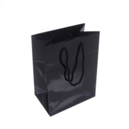 Small Black Gloss Laminated Paper Bags