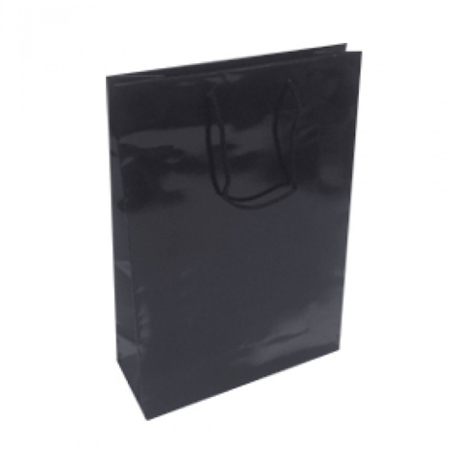 Medium Black Gloss Laminated Paper Bag