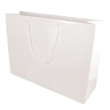 Large White Gloss Laminated Paper Bag