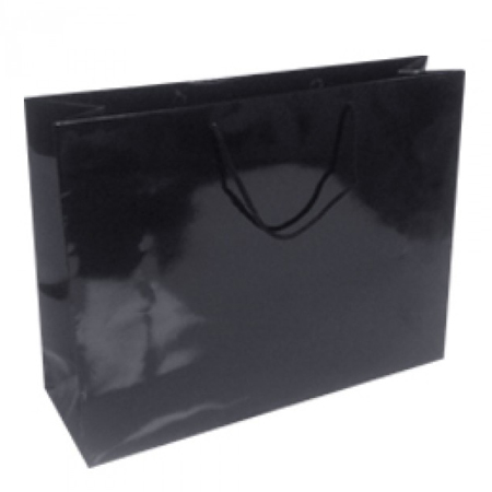 Large Black Gloss Laminated Paper Bag