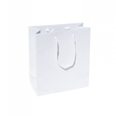 Small Plus White Paper Gift Bag