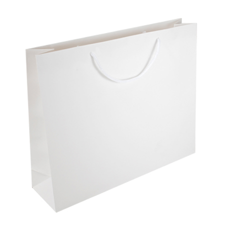 Large White Matt Laminated Paper Bags