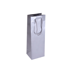 Silver Wine Bottle Bag