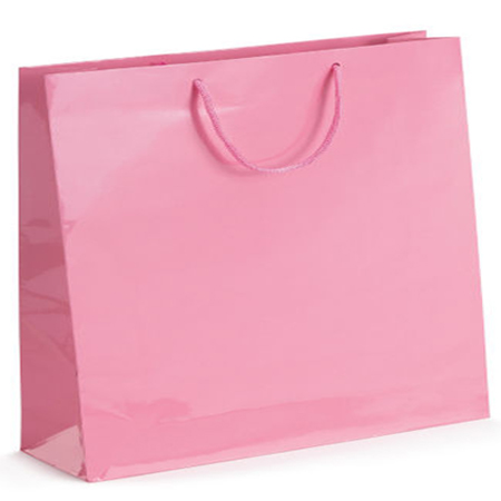 Ex Large Baby Pink Gloss Laminated Paper Bags
