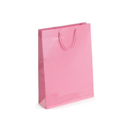 Small Baby Pink Gloss Laminated Paper Bags