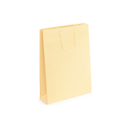 Small Cream Matt Laminated Paper Bags