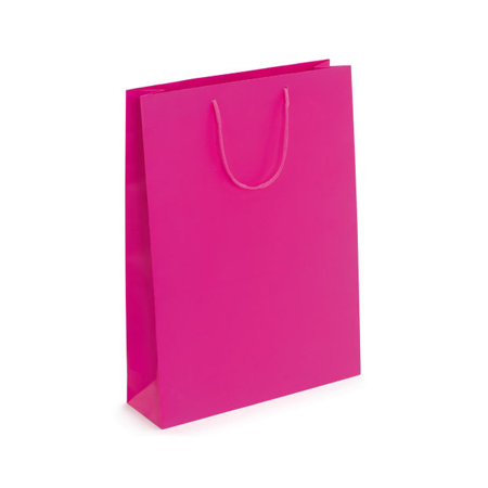 Medium Fuchsia Matt Laminated Paper Bags