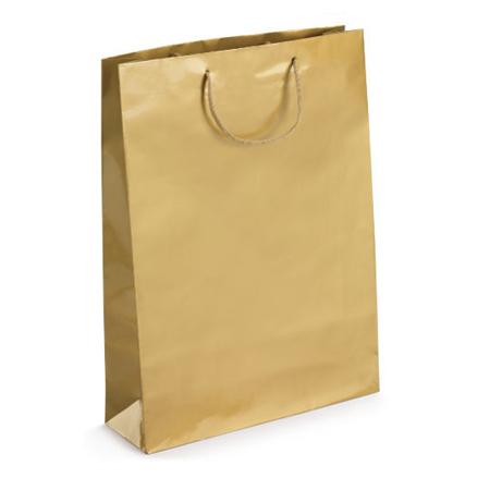 Large Gold Gloss Laminated Paper Bags