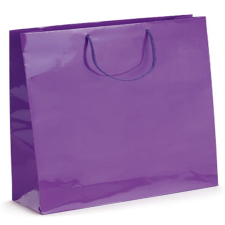 Ex Large Purple Gloss Laminated Paper Bags