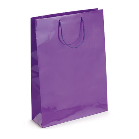 Large Purple Gloss Laminated Paper Bags