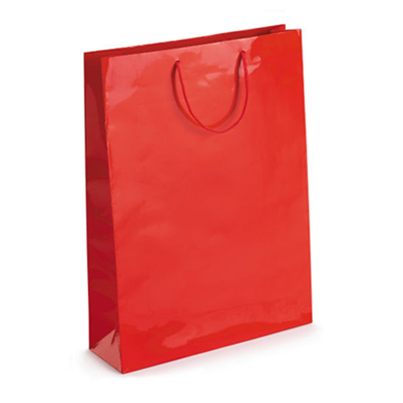 Large Red Gloss Laminated Paper Bags