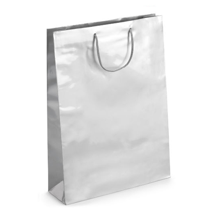 Large Silver Gloss Laminated Paper Bags