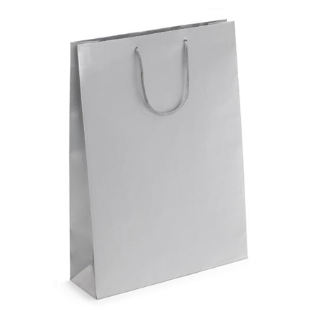 Large Silver Matt Laminated Paper Bags
