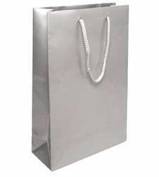 Medium Silver Paper Gift Bag