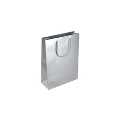 Extra Small Tiny-Silver-Paper Bag