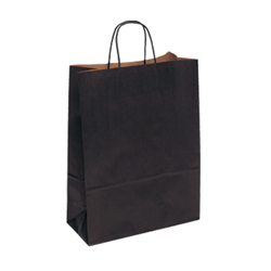 Large Black Kraft Paper Bag