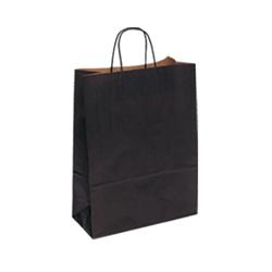 Medium Black Kraft Paper Bag