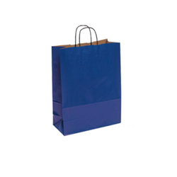 Small Blue Kraft Paper Carrier Bag
