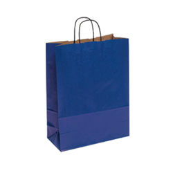 Medium Dark Blue Kraft Paper Bag
