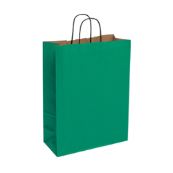 Large Dark Green Kraft Paper Bag