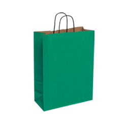 Mediun Dark Green Kraft Paper Bag