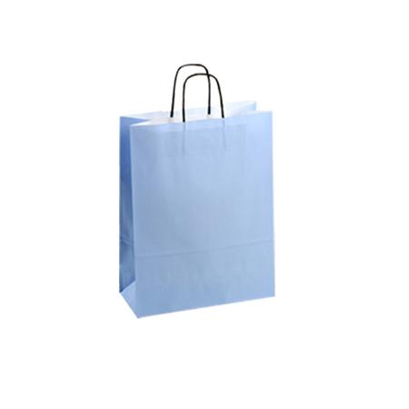 Small Light Blue Kraft Paper Bag