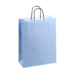 Large Light Blue Kraft Paper Bag