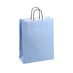 Medium-Light Blue-Kraft Paper Bag