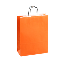 Medium Orange Kraft Paper Bag