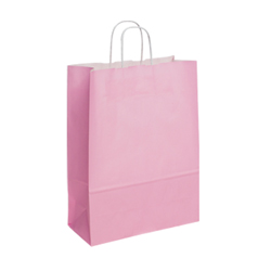 Large Baby Pink Kraft Paper Bag