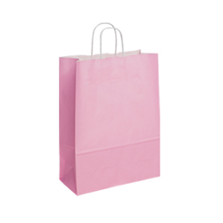 Medium Baby Pink Kraft Paper Bag